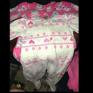 6-9 month Pink or blue garanimals sleepers/footies
